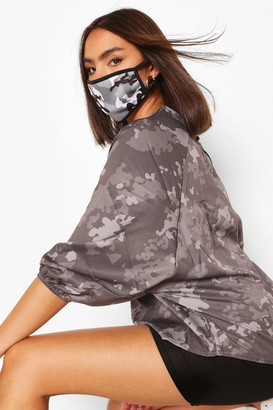 boohoo Mono Camo Fashion Face Mask