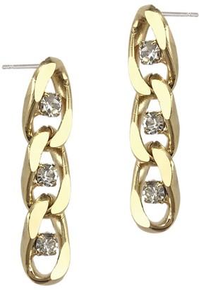 Biko Twin Flame Chain Studs Short Gold