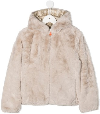 Save The Duck Kids Furyy faux-fur reversible jacket