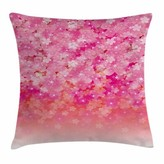 "Cherry Bloom Tree Square Pillow Cover East Urban Home Size: 16"" x 16"""