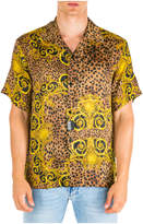 Versace Jeans Couture Long Sleeve Shirt Dress Shirt Leo Baroque Bowling