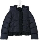 Il Gufo scarf collar hooded jacket