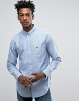 Lacoste Oxford Shirt In Blue Regular Fit