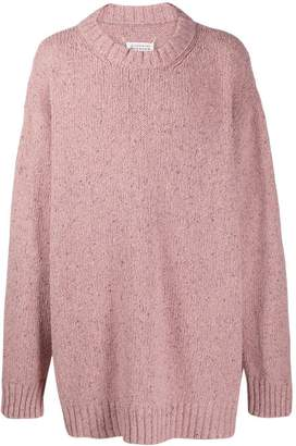 Maison Margiela speckled oversized sweater pink