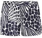 Equipment Landis Animal-Print Washed-Silk Shorts
