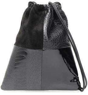 Alexander Wang Ryan Mini Patchwork Leather And Suede Bucket Bag