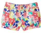 Gymboree Floral Print Bubble Short in Pink/Blue
