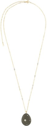 Cvc Stones 18kt yellow gold Olivia pebble and diamond pendant necklace