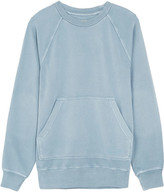 Burberry Oversized Washed Cotton-jersey Sweatshirt - Light denim