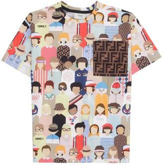 Fendi Printed Crew-neck T-shirt