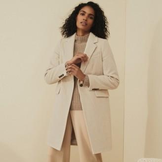 The White Company Italian Wool Herringbone Coat, Camel, 12