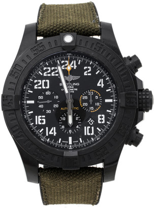 Breitling Black Polymer Canvas Rubber Avenger Hurricane XB1210E4-BE89155 Men's Wristwatch 50 mm