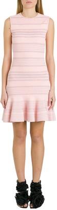 Alexander McQueen Textured Knit Embossed Dress