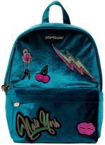 Betsey Johnson Baby's Got Back Velvet Backpack