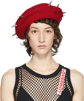Charles Jeffrey Loverboy Red Studded Beret