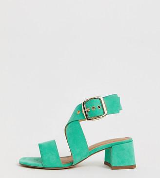 Asos Design DESIGN Hip Hop heeled sandals in green