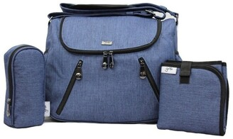 Gr8x Zoe Snowflake Blue Baby Bag Blue