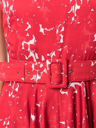 Samantha Sung Floral Print Midi Dress