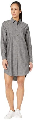 The North Face Chambray Dress (Black Chambray) Women's Clothing