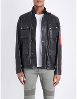 Belstaff Daytona Racing-stripe Leather Jacket