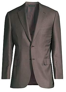 Brioni Men's Virgin Wool & Silk Check Jacket
