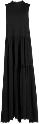 AllSaints Cotton Tiered Maxi Dress
