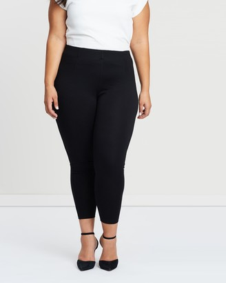 Atmos & Here Atmos&Here Curvy - Women's Black Cropped Pants - Stacey Ponte Pants - Size 18 at The Iconic