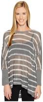 Blanc Noir Stripe Drape Sweater Women's Sweater