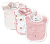 Ralph Lauren 3-Pack Bear Bib Set