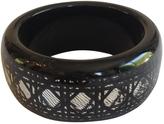 Christian Dior Black Wood Bracelet