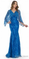 Morrell Maxie Beaded Lace Capelet Evening Dress