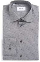 Eton Men's Slim Fit Micro Print Dress Shirt
