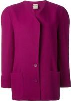 Krizia Pre Owned padded shoulder jacket