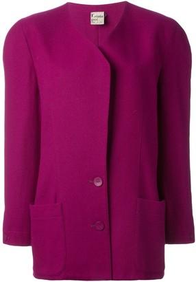Krizia Pre-Owned padded shoulder jacket