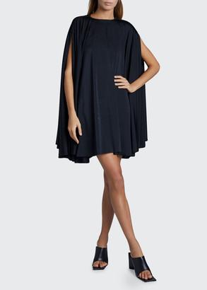 Balenciaga Flip Cape Mini Dress