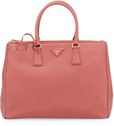 Prada Saffiano Box Satchel Trapeze Bag, Pink