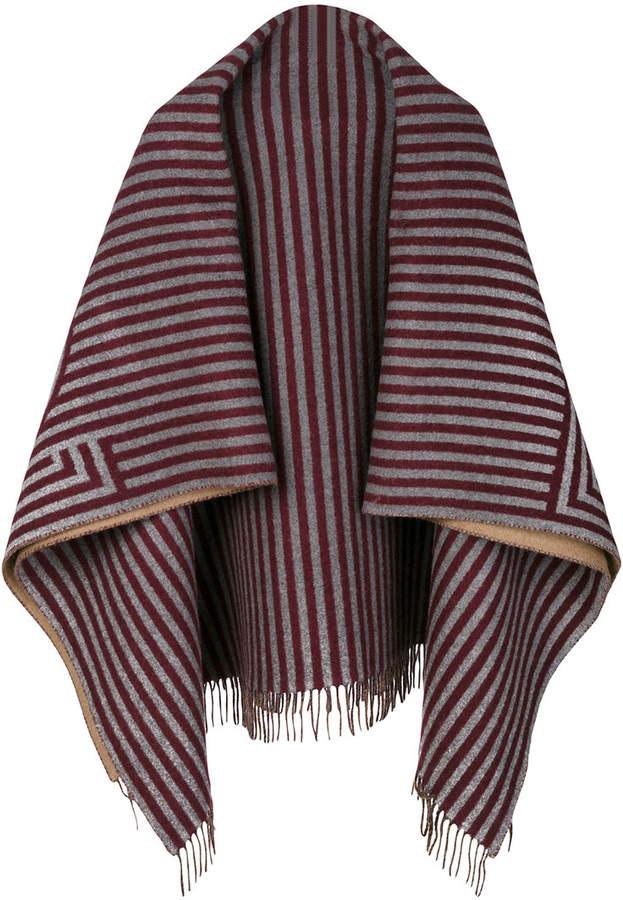 stripe Fendi print scarf - Red Fendi 3I6cg