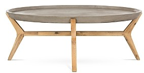 Safavieh Hadwin Indoor/Outdoor Modern Concrete Oval Coffee Table