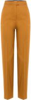 MSGM Straight Leg Cotton-Blend Trousers