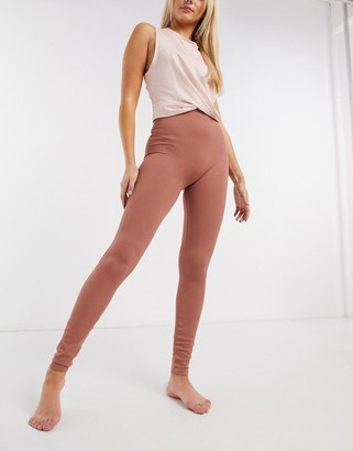 Pieces seamless lounge legging in rust