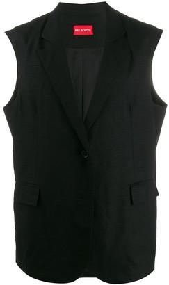 Art School double breasted sleeveless blazer