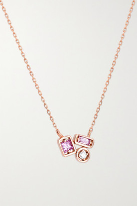 Suzanne Kalan 18-karat Rose Gold, Sapphire And Diamond Necklace - one size