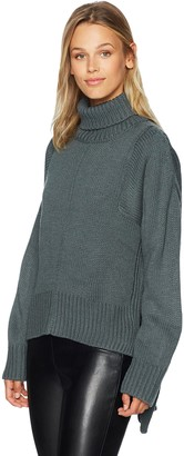 Lucca Couture Women's Tracy Turtleneck Boyfriend Sweater
