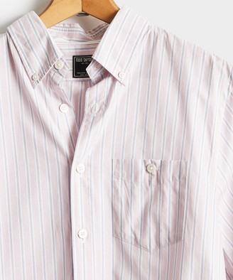 Todd Snyder Pink Stripe Button Down Collar Long Sleeve Shirt