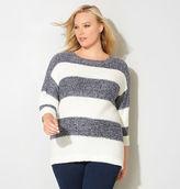Avenue Cuffed Striped Sweater