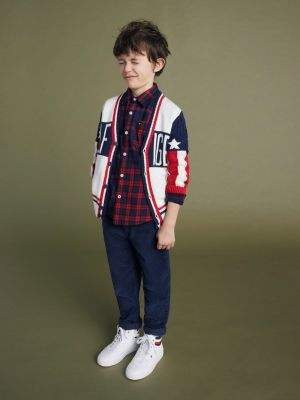 Tommy Hilfiger Colour-Blocked Stars and Stripes Cardigan