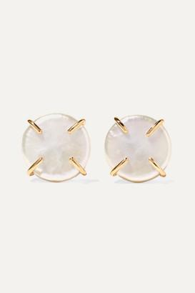 Melissa Joy Manning 14-karat Gold Pearl Earrings - one size