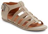 Gentle Souls Olive Leather Strap Sandals