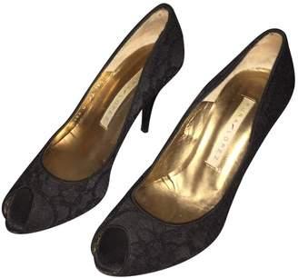 Pura Lopez Black Cloth Heels