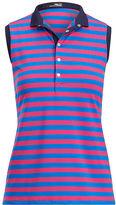 Ralph Lauren Golf Striped Sleeveless Polo Shirt